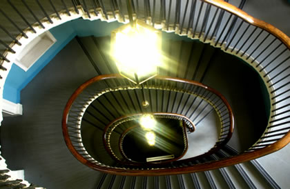 A spiral stair way